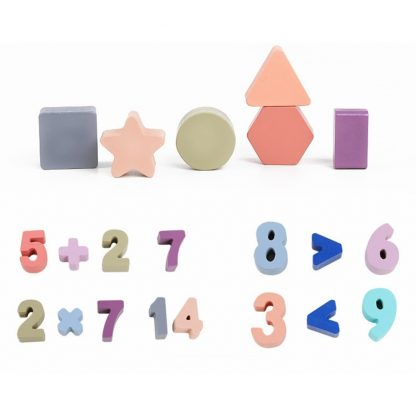 Wooden Toys Montessori Kid's Wooden Puzzle Math Toy