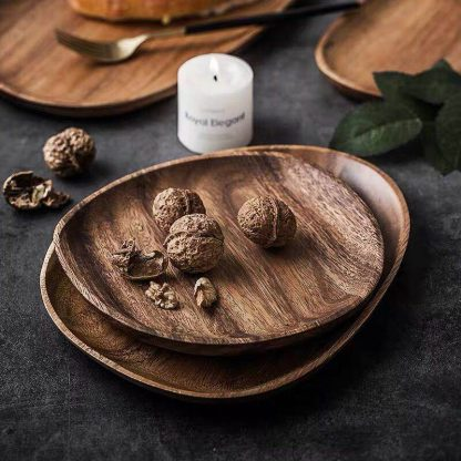 Green Kitchen Laconic Design Acacia Wood Plate 100%