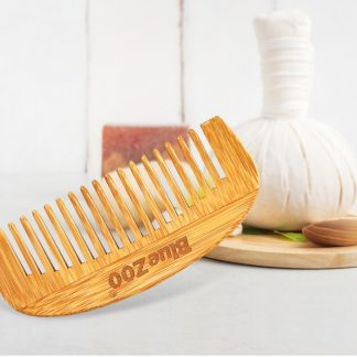 Green Kitchen Wood Grain Portable Bamboo Hair Comb