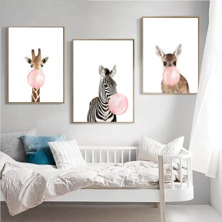 Home & Garden Chewing Gum Animals Posters