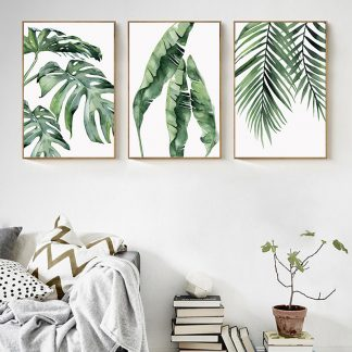 Home & Garden Watercolor Tropical Plants Painting