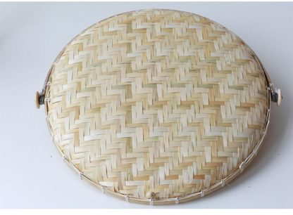 Green Kitchen Bamboo Food Basket with dust proof cover
