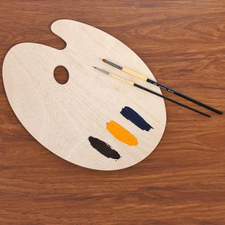 Alternative Entertainment Flat & Smooth Artist Wood Palette with Thumb Hole Wood
