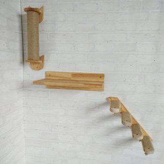 Alternative Entertainment Wall-Mounted Jumping Platform Cat Scratching Climbing Step