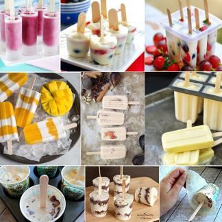 Green Kitchen Wooden Ice Cream Sticks 50 pcs Set
