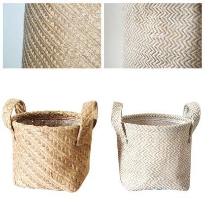 Eco-Friendly Bathroom Braided Jute Storage Basket for Storage