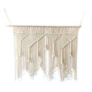 Gift Ideas Macrame Wall Hanging Handwoven Bohemian Cotton Rope 100%