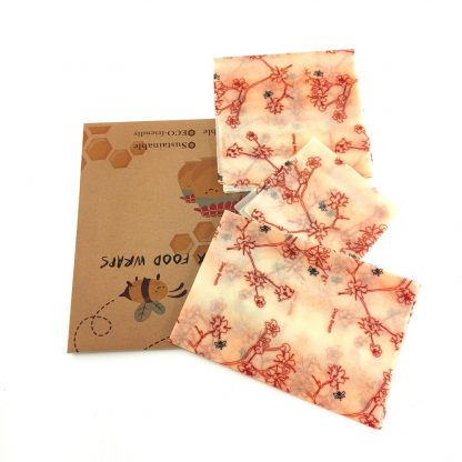Green Kitchen Sustainable, Organic and Reusable Beeswax Wrap 100%