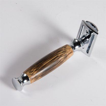 Eco-Friendly Bathroom Razor with long Natural Bamboo handle Alloy