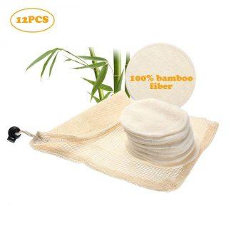 Eco-Friendly Bathroom Reusable Makeup Remover Bamboo Fiber Pads Bamboo