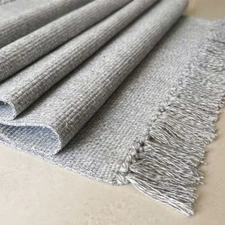 Home & Garden Hand Woven Cotton Linen Retro Style Carpet Cotton