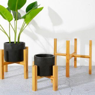 Home & Garden Modern Bamboo Bonsai or Flowers Pot Holder Bamboo