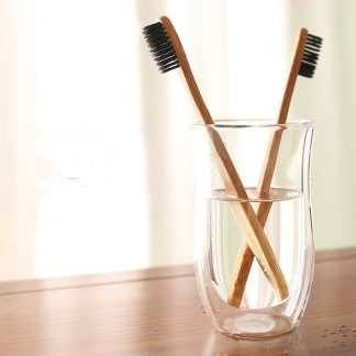 Home & Garden Bamboo Charcoal Toothbrushes (Soft Bristles) Bamboo