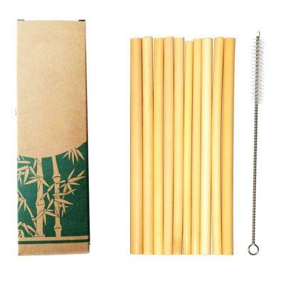 Green Kitchen Organic Bamboo drinking Straws Bamboo