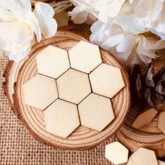 Alternative Entertainment 100pcs Unfinished Natural Wood Hexagons