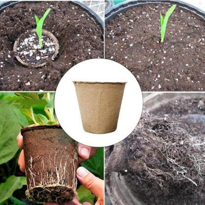 Home & Garden Round Biodegradable Paper Nursery Pot