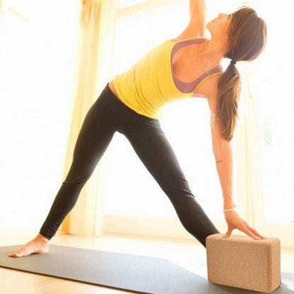 Home & Garden High Density Cork Yoga Block 100% Natural