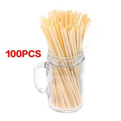 Green Kitchen 100pcs Pack Reusable Wheat Straws Wheat