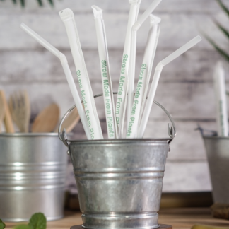 Green Kitchen 100% Biodegradable Corn Starch Straws ⌀6mm Biodegradable
