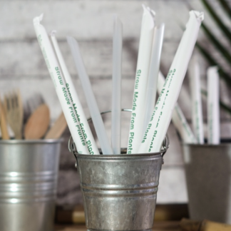 Green Kitchen 100% Biodegradable Corn Starch Straws ⌀12mm Biodegradable
