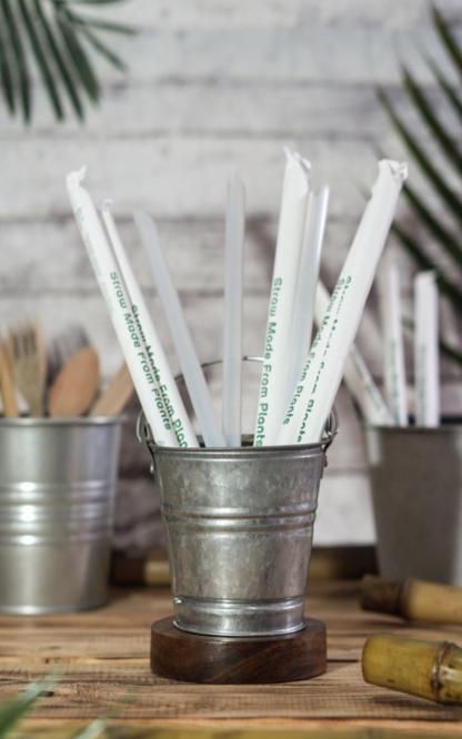Green Kitchen 100% Biodegradable Corn Starch Straws ⌀12mm Biodegradable