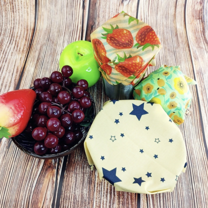 Zero Waste Reusable Storage Wrap Sustainable Organic Food-Wrapping Paper BPA Plastic Free Beeswax